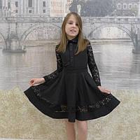 Платье детское школьное черный, 40