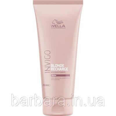 Wella Invigo Оттеночный бальзам-уход для теплых светлых оттенков  Conditioner Warm Blonde