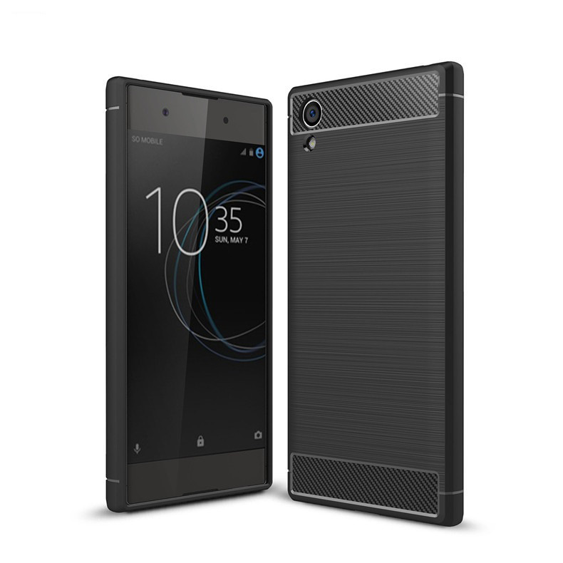 Чехол Carbon для Sony Xperia XA1 Plus / G3412 / G3416 / G3421 / G3423  бампер черный