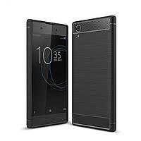 Чехол Carbon для Sony Xperia XA1 Plus / G3412 / G3416 / G3421 / G3423  бампер черный, фото 1