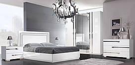 Спальня Венеция Италия белая (шкаф 4-х дверный)