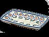 Блюдо прямоугольное с овальными краями маленькое Asters