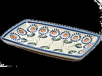 Блюдо прямоугольное с овальными краями маленькое Asters, фото 1