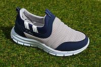 Детские кроссовки слипоны сетка синий серый р31 - 35, копия Nike