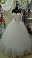 Платье свадебное  красный шнур