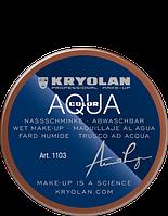 Коричневый  аквагрим AQUACOLOR 55мл(оттенок DE)