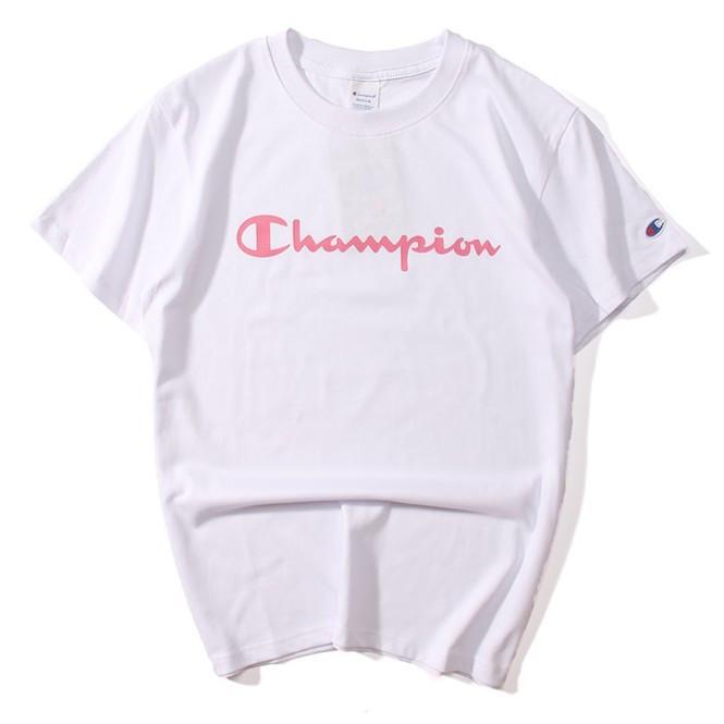 Футболка женская Champion розовый принт|