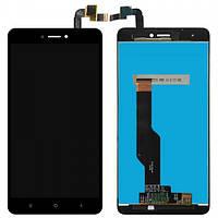 Стекло сенсорного экрана Xiaomi Redmi Note 4X чёрный оригинал PRC