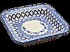 Керамическое блюдо квадратное сервировочное Criss-cross