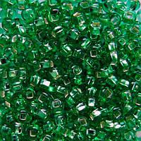 Чешский бисер для рукоделия Preciosa (Прециоза) оригинал 50г 33129-57100-10 Зеленый
