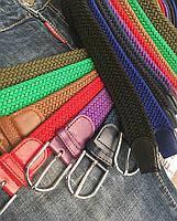 Ремень женский плетёный,разные цвета