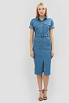 Приталенное джинсовое платье с поясом из основной ткани (Bongo crd), фото 3