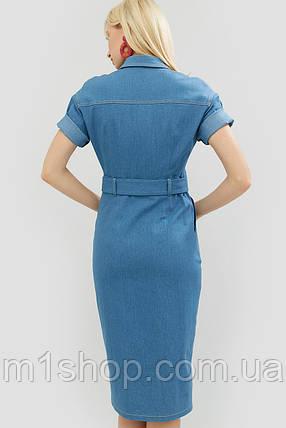 Приталенное джинсовое платье с поясом из основной ткани (Bongo crd), фото 2