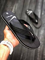 Вьетнамки черные мужские Найк | Nike тапки, шлепки, сланцы, фото 1