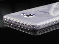 Чехол для Samsung A7 A720 2017 силиконовый со стразами, фото 1