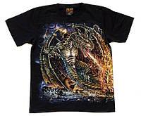Футболка Морской огнедышащий дракон (светится в темноте), Размер L