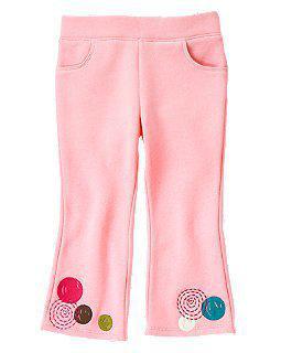 Флисовые розовые брюки с кругами (Размер 2Т) Сrazy8 (США)