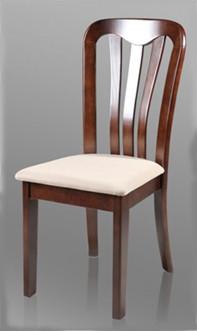 Стул J01 (темный орех), деревянные, мягкое сденье