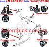 Сайлентблоки опоры двигателя Mazda PREMASY 99-05г (Комплект 4шт)
