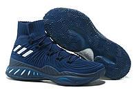 Мужские баскетбольные кроссовки Adidas Crazy Explosive 2017 Dark Blue/Grey (реплика А+++)