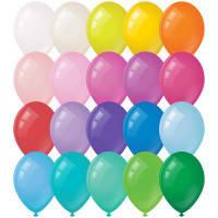"""Повітряні кульки 9"""" (23 см) (Поштучно). без малюнків -"""