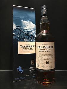 Виски Talisker Островной Односолодовый 10 y.o. Талискер 1л