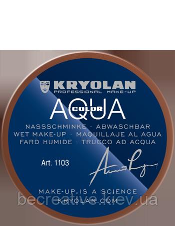 Коричневый аквагрим AQUACOLOR 55мл(оттенок 11 w)