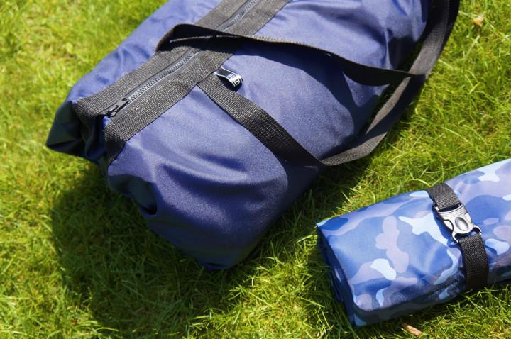 Сумка трансформер + коврик 2в1 LazyBones Bag Тёмно-синий