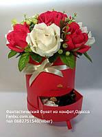 """Букет из конфет в красной коробочке""""Сияющая улыбка""""№11+7, фото 1"""