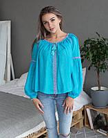 """Вишита блуза жіноча натуральний льон """"Фантазія"""" розміри в наявності, фото 1"""