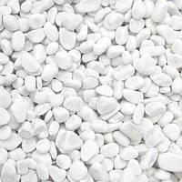 Мраморная галька белая Каррара 5-12 мм