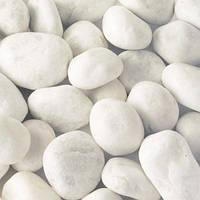Мраморная галька белая Каррара 25-40 мм., фото 1