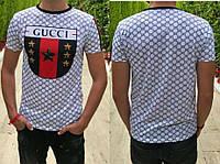 Мужская футболка Gucci 46.48.50.52 Украина не линяет принт и сублимация печать Турецкая ткань