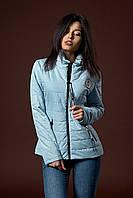 Женская молодежная демисезонная куртка. Размер S. Цвет светло голубой