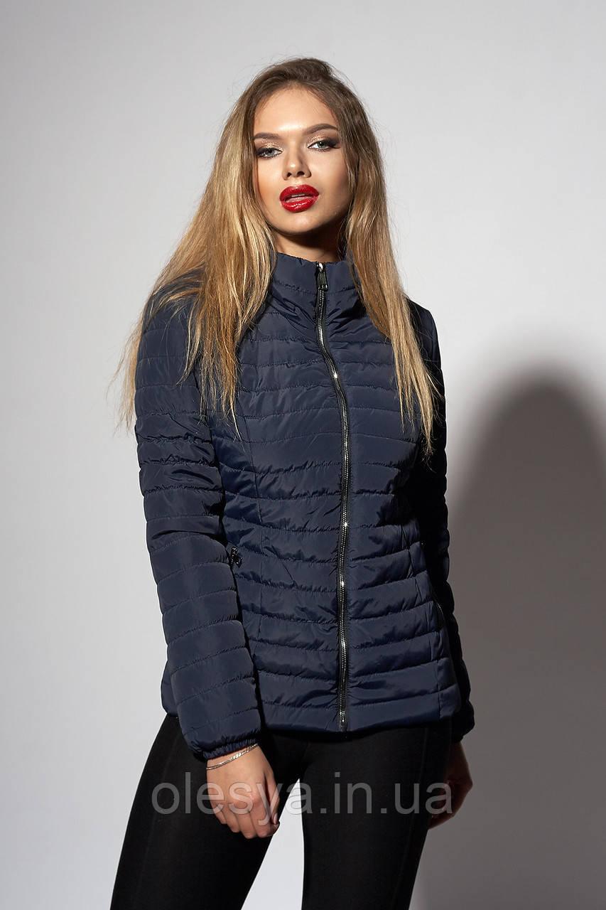 Женская демисезонная куртка. Код модели К-66-37-18. Цвет темно синий.
