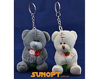 Мягкая игрушка брелок Мишка Тедди с розами (6,5 см) №71002