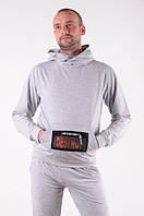 """Спортивный костюм  мужской """"DESTROY"""" светло-серый размеры 48-54"""