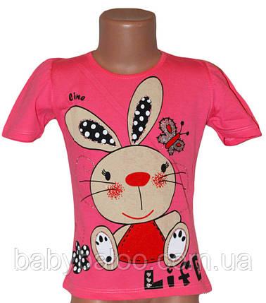 """Красивая футболка для девочки """"Заяц смешной"""" (от 5 до 8 лет), фото 2"""