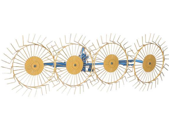 Грабли ворошилки (солнышко) к мотоблоку четырехколесные Ø4мм, фото 2