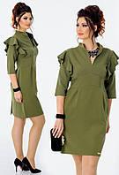 Платье с воланами в расцветках 23365