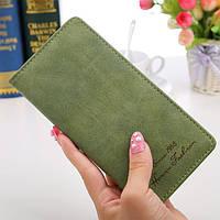 Женское портмоне зеленое в винтажном стиле, фото 1