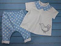"""Летний костюм на девочку """"Bird"""". Размер 20 (62см), 22 (68см)"""