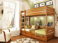 Двухъярусная кровать из натурального бука