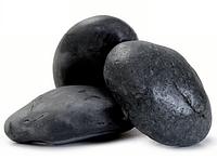 Мраморная галька черная Эбона 100-200 мм, фото 1