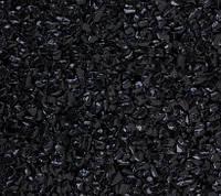 Мраморная черная галька Эбона 4-7 мм