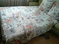 Комплект постельного белья голд с контрастной полосой