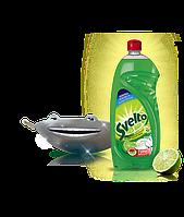 Средство для мытья посуды Svelto Turbo Sgrassante Limone Verde 1l