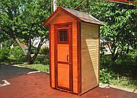 Красивый деревянный туалет для дачи | Душевая кабинка | Санузел, фото 1