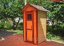 Красивый деревянный туалет для дачи | Душевая кабинка | Санузел