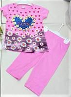 Летние костюмы для девочек, бриджи и футболка., фото 1